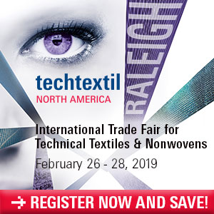 Registration has Officially Opened for Techtextil North America 2019