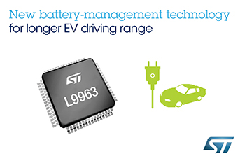 New Battery-Management System chip delivers enhancements to extend driving range, reliability, and safety of electric vehicles